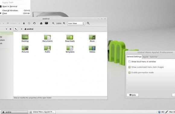 Linux Mint Cinnamon, KDE, MATE.